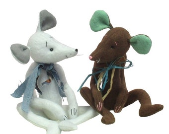 Milton mouse, or rat sewing pattern. soft toy mice