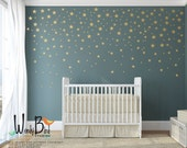 Gold Stars Wall Decals Pack - Peel and Stick Confetti Wall Decals - Metallic Star Wall Decals - Half Set