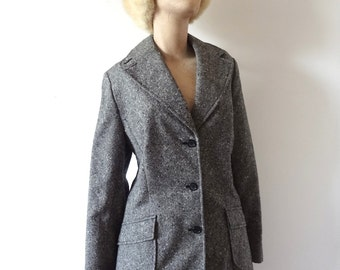 1970s Wool Tweed Jacket - vintage Pendleton blazer - size medium/large