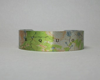 Cuff Bracelet Sequoia National Park California Map Unique Hiker Gift for Men or Women