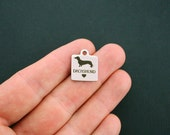 Dachshund Love Stainless Steel Charm - Exclusive Line - Quantity Options - BFS1290