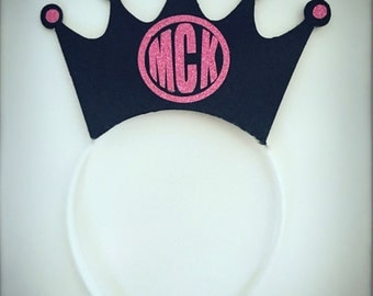 Monogram Crown HEADBAND, great for a bachlorette parties, birthday parties, anniversaries, and photo booths