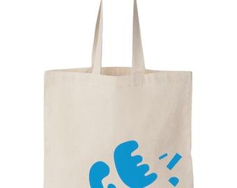 PAPER CUT / Screen printed cotton tote bag - Last one