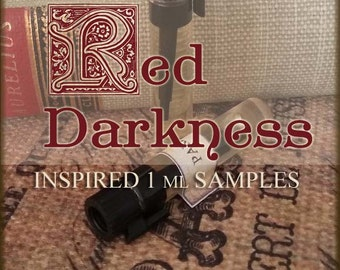 RED DARKNESS Gothic Victorian inspired Perfume Oil Samples / 1ml samples / Vegan perfume oil / crimson horror