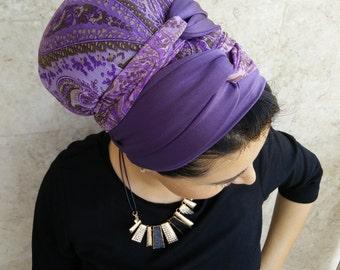 Handmade Lycra wrap around, apron tichel, Jewish head covering, by oshratdesignz