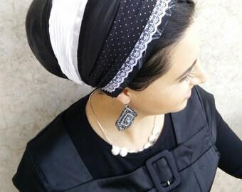 handmade Jewish Tichel,Sinar tichel,Mitpachat,Non Wrap, Just tie in the back by oshrataDesignz