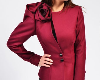 Melinda jacket (black, white, marsala, navy, green)