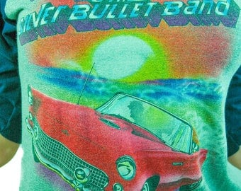 Vintage Bob Seger and The Silver Bullet Band shirt 80s tee 3/4 Sleeve Baseball shirt Band Tee Concert shirt 80s shirt Bob Seger Tee 1983