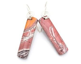 popular items for earrings with jasper on etsy