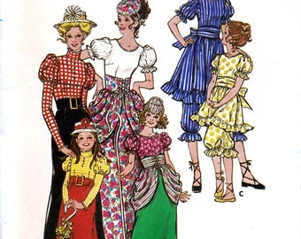 Butterick 5980 Vintage 70s Sewing Pattern for Children's Edwardian Bathing Suit, Bo-Peep Costumes - Uncut - Size 6