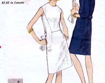 Vogue 6757 Vintage 60s Sewing Pattern for Misses' Dress - Size 16 - Bust 36