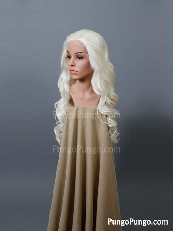 White Blonde Cosplay Wig 30