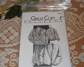 90's Great Copy Sewing Patterns  Blanket Jacket #805