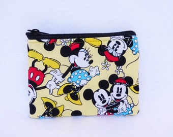 Mickey and Minnie Mouse Coin Bag //  Disney