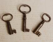 3 Skeleton Keys Vintage