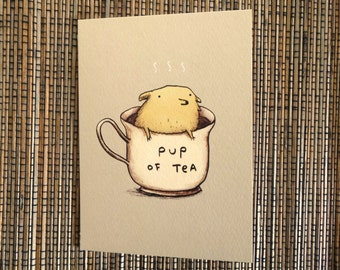 Pup Of Tea Card