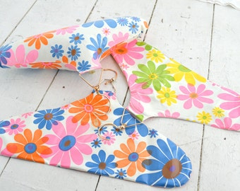 1960s Floral Inflatable Hangers, Set of 3