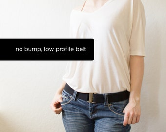 black no bump belt, invisible under clothes - one size fits most