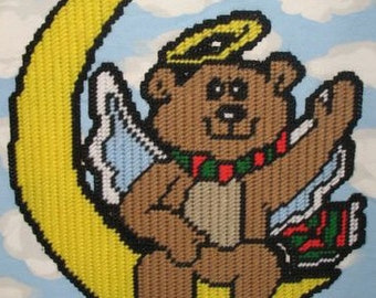 Heavenly Bear Plastic Canvas Pattern