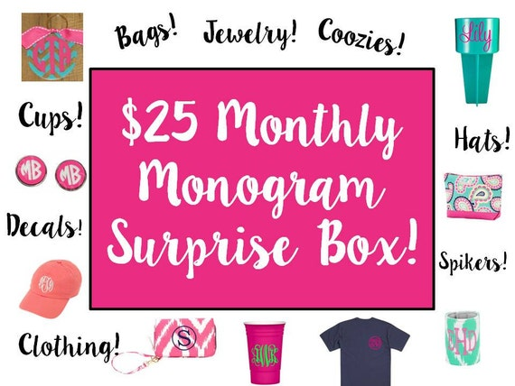 june monthly monogram surprise box valued at 42 00