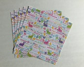 Supplies - 12 x 12 Pack of 5 Easter Bunny Word Mix Scrapbooking Paper by the Paper Studio, Scrapbooking Paper Pack, Easter Scrapbooking