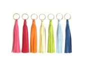 "6"" Leather Tassel Key Chain | Large Genuine Leather Tassel Keychain"