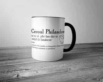 Funny Mug, Cereal Killer, Cereal Philanderer, Cereal Lover, Cute Mug, gift for cereal lover, cereal gift, cereal gift idea,  breakfast