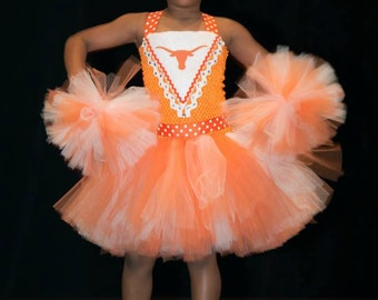 Girls Cheerleader (Any Team) Tutu Dress Halloween Costume