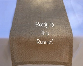 Burlap Table Runner, Tan Sultana Burlap, Ready to SHIP