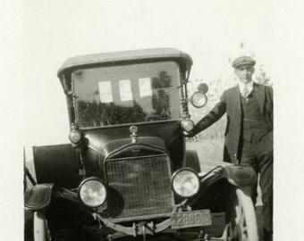 "Vintage Photo ""The Louisiana Traveler"" Snapshot Photo Old Antique Photo Black & White Photograph Found Photo Paper Ephemera Vernacular - 196"