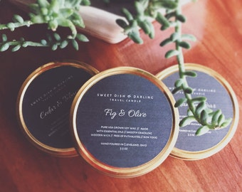 Cedar Tobacco {{ Soy Travel Tin Candle