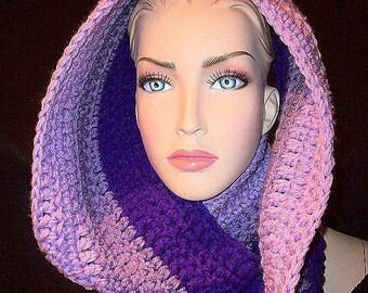 Purple Crochet Infinity Scarf, Crochet Infinity Scarf, Purple Crochet Scarf, Purple Scarf, Infinity Scarf, Scarf, Purple Cowl Scarf, Crochet