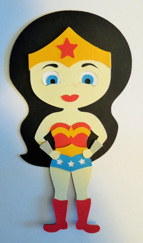 Super Hero Girl Wonder Woman Paper Die Cut Paper Doll