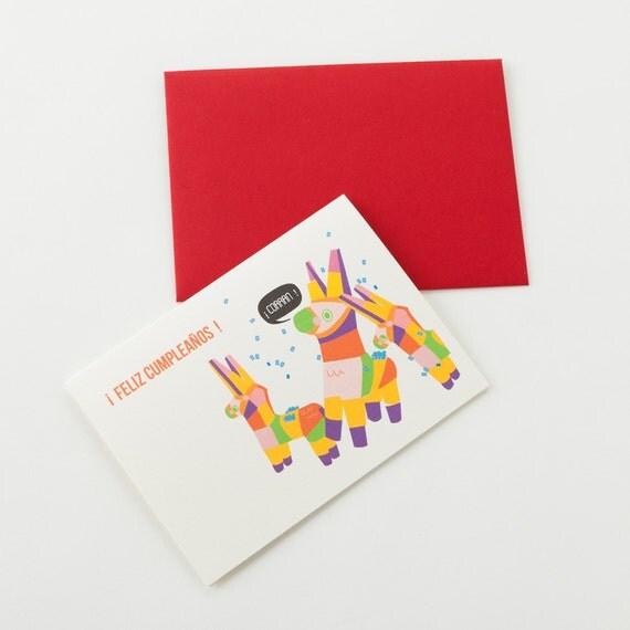 Feliz Cumpleaños Piñata Birthday Greeting Card