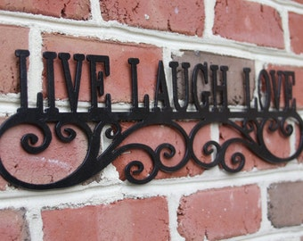 Live Laugh Love Wall Art | Wall Art | Inspirational Wall Art | Live Laugh Love Wedding Decor