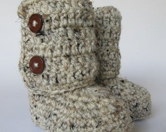 Baby Ankle Boots -Crochet Baby Booties-baby shower- gift