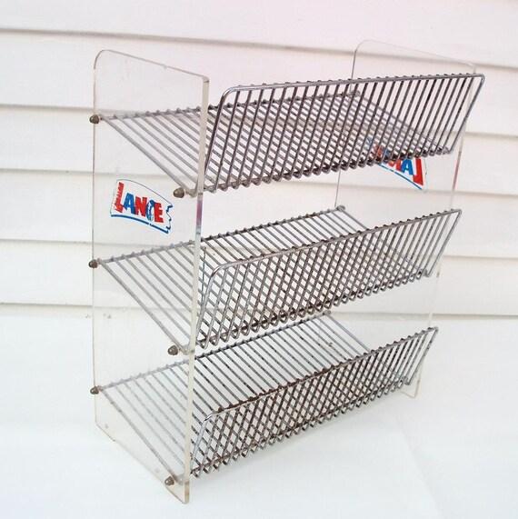 vintage 3 tier stand metal shelf storage rack by. Black Bedroom Furniture Sets. Home Design Ideas