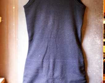 Vintage Mens or Boys Black Wool Swimsuit from the 1920's