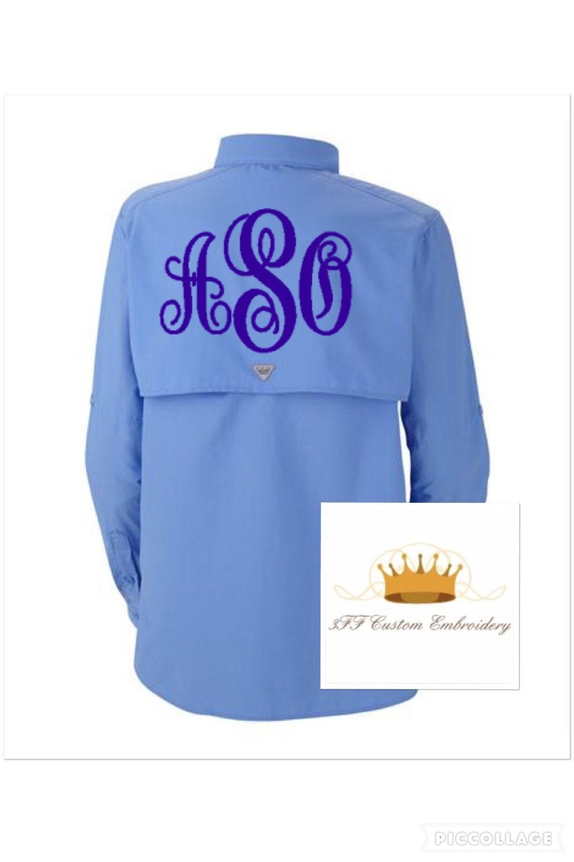 Monogrammed Columbia Ladies Bahama Pfg Shirts
