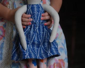 Modern rag doll, cloth doll, handmade fabric doll, OOAK
