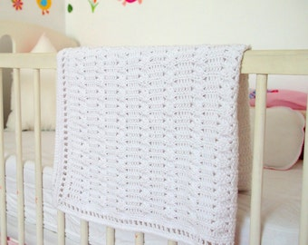 Baby blanket crochet PATTERN, afghan, throw, home decor, nursery, baby shower gift, PDF instant download