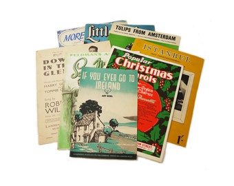 Vintage Sheet Music Popular Music of the 1950s Mid Century Sheet Music