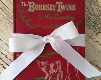 Vintage Red Bobbsey Twins Book - The Bobbsey Twins in the Country - Red Book for Boy's or Girl's Room