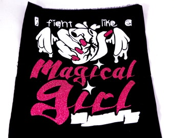 Magical Girl Glitter Back Punk Patches