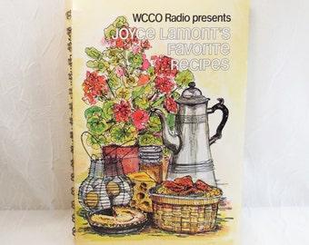WCCO Radio presents Joyce Lamont's Favorite Recipes 1979 vintage Minneapolis