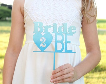 Blue Ombre Bride 2 Be Cake Topper Bridal Shower Cake Topper #DownInTheBoondocks