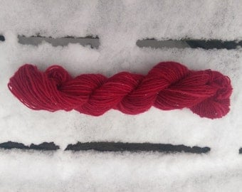 "Colorway ""Red Mountain"" Handspun Merino Worsted Weight Yarn"