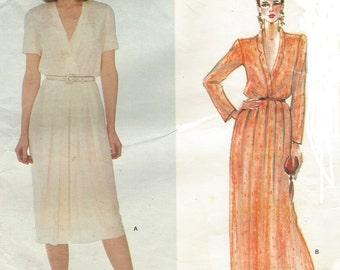 80s John Anthony Womens Day or Evening Dress Vogue Sewing Pattern 2522 Size 14 Bust 36 Vintage Vogue American Designer Patterns