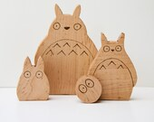 Totoro Wooden Toys Stackable All-Natural