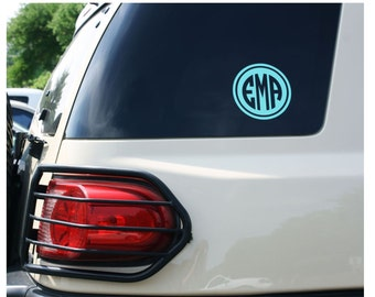 Monogram Car Decal - Choose from ANY color or pattern - Car Decal Monogram Car Decal Sticker Car Decal girls